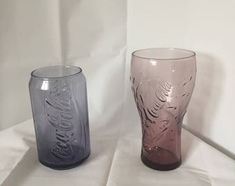 Pair of collectable coke glasses goid condition