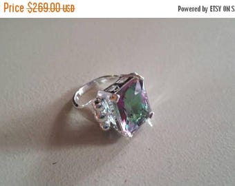 Holiday SALE 85 % OFF Mystic topaz  925 Sterling Silver   Ring  Gemstone