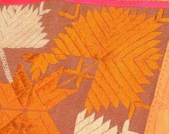 Saffron kurta + Ivory wrap with pants  set