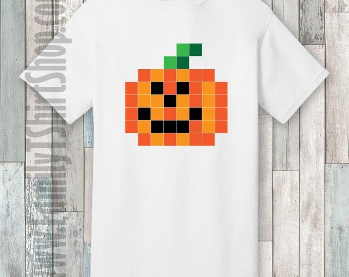 Jack O Lantern Pixel T-shirt