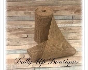 """SALE!! 10 yards Burlap Natural Ribbon 6"""" - Home Decor - Bows - Craft ribbon Weddings - Showers - Christmas Ribbon - Natural Burlap Garland -"""