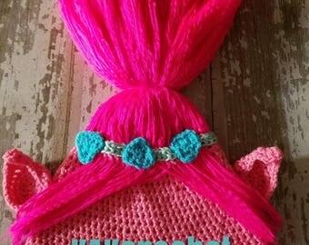 Poppy hat, troll hats, kids winter hats