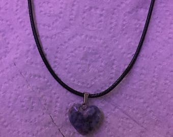 Gemstone heart shaped pendant necklace