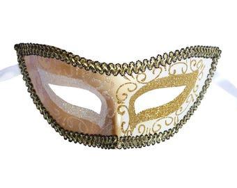 Gold Venetian Mask Masquerade Ball Prom Party Mardi Gras Halloween Costumes Wedding Decoration 4J6A, SKU 7K13