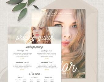 Photo Price List - Senior Photography Pricing Template, Senior Photography Pricing Guide, Senior Photographer Price Sheet, Price Guide List