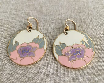 """Laurel Burch Vintage Signed and Named """"Garden Rose"""""""