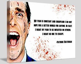 American Psycho Framed Canvas Digital Artwork Wall Art A4 - A3 - A2 - A1
