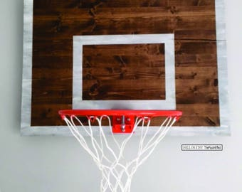 Basketball Wall Decor Weathered Backboard with Rim Wall Decor-Great for a Child's Sports Themed Room, Basement or Man Cave. CHOOSE YOUR SIZE