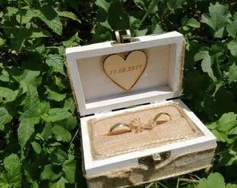 Personalized ring boxр Wedding Rustic bearer box, Ring holder pillowр Wedding Keepsake wood box, ring boxр Rustic Wedding