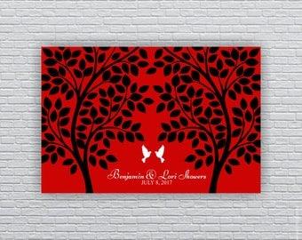 Rustic Wedding Guest tree, 160 Leaf, Wood planks, Rustic Wedding Printable Wall Art 20x30, Wedding Guest Book Alternative, INSTANT DOWNLOAD