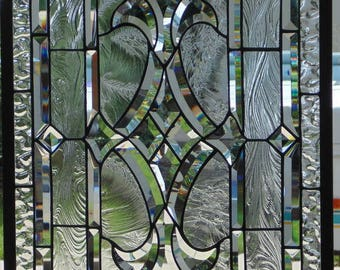 Stained Glass Window Hanging  30 1/2 X 19 1/4