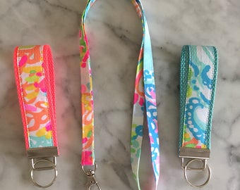 Lilly Pulitzer Key Fob - Lovers Coral - 2 Colors
