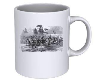 War in Virginia - Scene from a Civil War Battle - Coffee Mug - Best Gift !!!