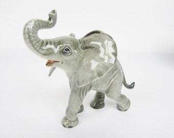 Goebel West Germany AFRICAN BUSH ELEPHANT 36012   Feng Shui Trunk Facing  Upwards   Prosperity