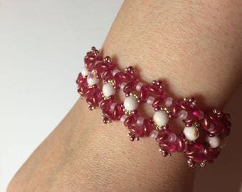 RounDuo & Czechmates lentil handmade Beads Bracelet