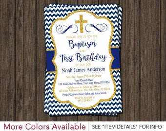 Baptism and birthday invitation etsy boy baptism and first birthday invitation printable baptism and 1st birthday invitation for boys stopboris Gallery