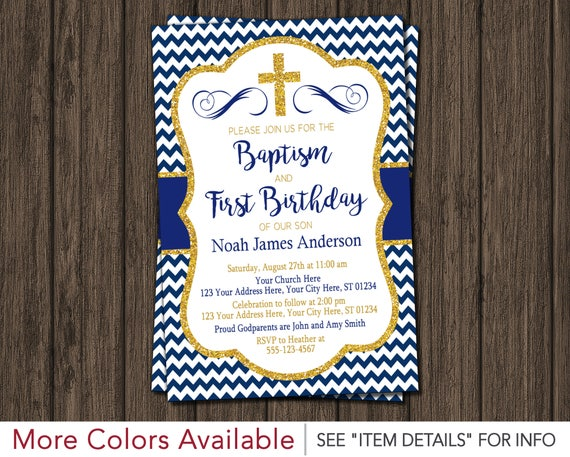 Boy baptism and first birthday invitation printable baptism like this item stopboris Image collections