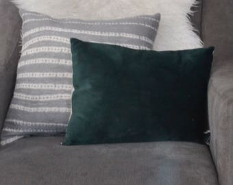 Custom Emerald Velvet Pillow