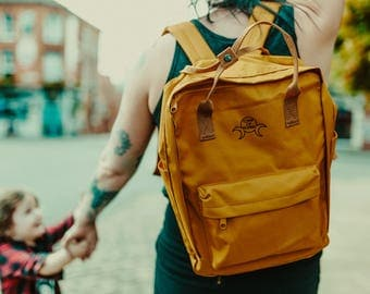 Mustard Triple Goddess Daypack - Coven of Mothers Collection