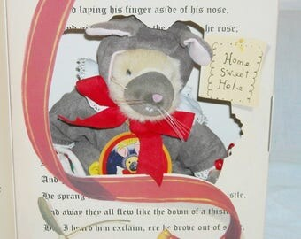 """Muffy North American Bear Company """"Twas the Night Bearfore Christmas""""/New in Box/Muffy Dressed as a Mouse! Very Cute!!"""