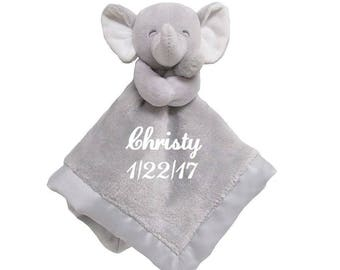 Carter's Elephant Plush Security Blanket Lovey - Personalized