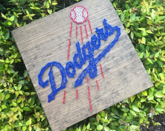 Los Angeles Dodgers Baseball Sports Fan Man Cave Wall Art Sports Team String Art Wood Sign