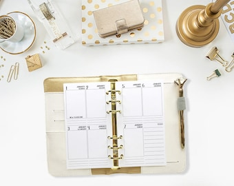 Personal 2018 Weekly Vertical printed planner calendar - Wo2P - week on two pages - week layout - Monday Start