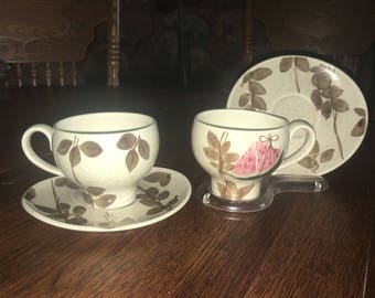 2 Vintage RED WING Tampico Cup And Saucers