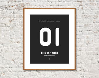 THE MATRIX - Minimalist Poster, Keanu Reeves, Laurence Fishburne, Carrie-Anne Moss, Keanu Reeves Print, The Matrix Poster, Animatrix