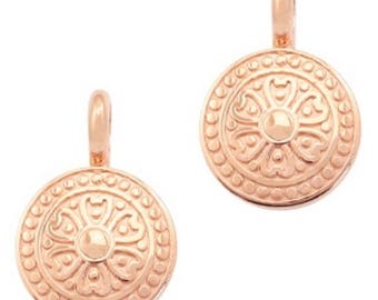 "DQ Metal Pendant ""Mandala""-2 pcs.-Color selectable (color: Gold)"
