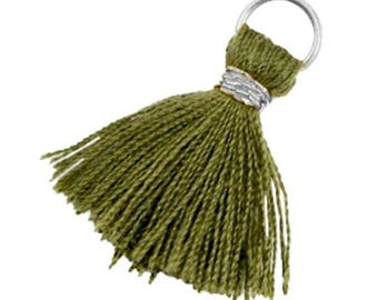 Tassels, tassel-3 pcs.-1.8 cm-Color selectable (color: Army green)