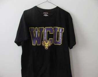 West Chester University t-shirt shirt Adult Large Black Rams