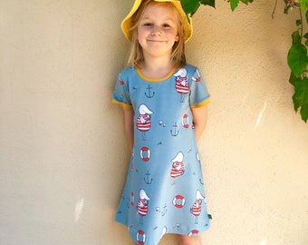 NEW! Seatime jersey dress, baby dress, toddler dress, organic baby clothes, girls dress, baby girl, girls clothes, baby clothes,