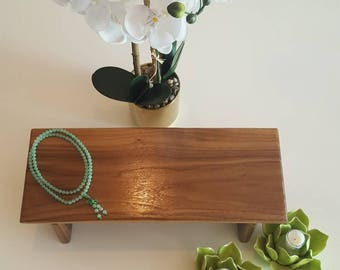 Walnut Hardwood Meditation or Prayer Bench