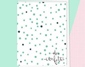 Card. Confetti