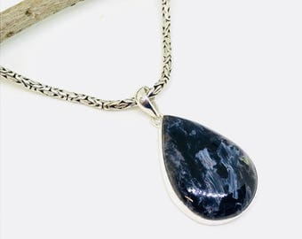 Pietersite pendant, necklaces set in sterling silver(92.5) . Genuine and natural stone. Satisfaction guaranteed: