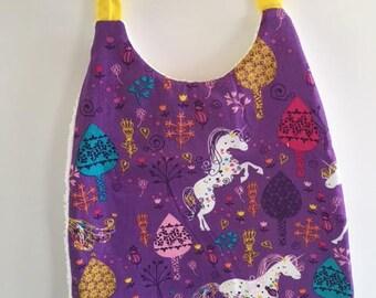 Purple Unicorn bib