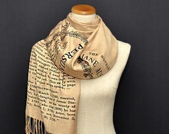 Persuasion  by Jane Austen Scarf Shawl Wrap, Book scarf