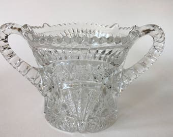 Vintage Pressed Glass Vessel
