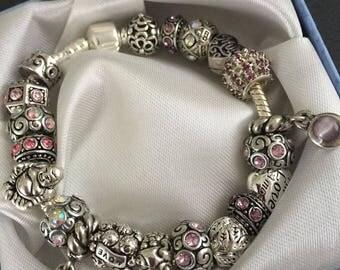 Pandora Style Vintage Charm Bracelet