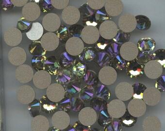 2058 ss34 lum *** 8 Swarovski Xilion Rose flat back ss34 tan (7,2mm) crystal luminous green f