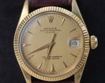 Rolex Oyster Perpetual Datejust,, 18K Yellow Gold, 31 MM Mid-size Automatic