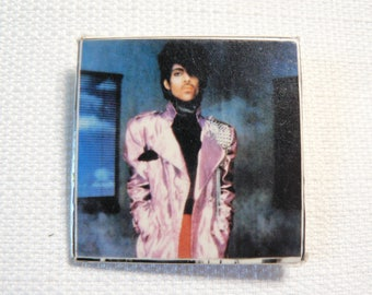 Vintage 80s Prince Square Pin / Button / Badge