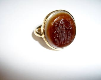 22 K Gold Classical Ring, Egypt, Vintage 1948 for Man or Woman