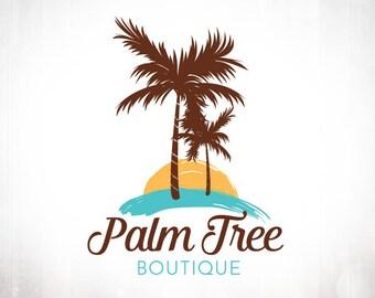 Premade Logo Design • Tropical Palm Tree