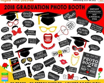 SALE PRINTABLE Graduation Photo Booth Props 2018–2018 Graduation Props-Class of 2018 Props-Graduation Party Props-Instant Download-GP1