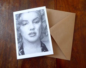 Marilyn Monroe Greetings Card