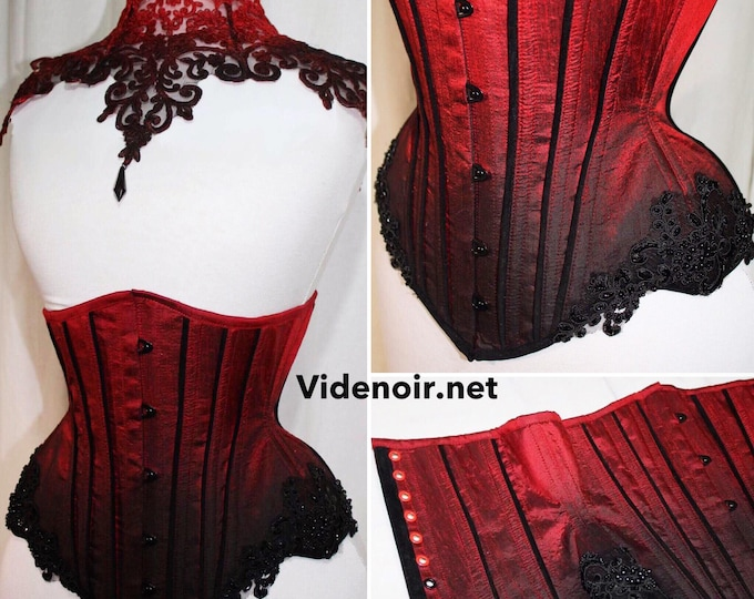 Underbust standard size, custom with lace ombre design. Hourglass shape