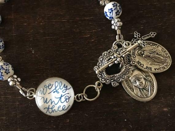 Catholic Bracelet * Catholic Jewelry * Flying Novena Bracelet * Mother Teresa Prayer Bracelet