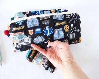 EMT Bag. PARAMEDIC Bag. Emt Gift. Paramedic Gift.Paramedic Pencil Pouch.Emt Stuff.Emt Pencil Pouch.Medical Responder Gift.EMS Gift.Ambulance